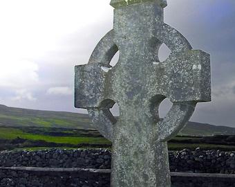 Celtic cross, Co. Clare, Ireland
