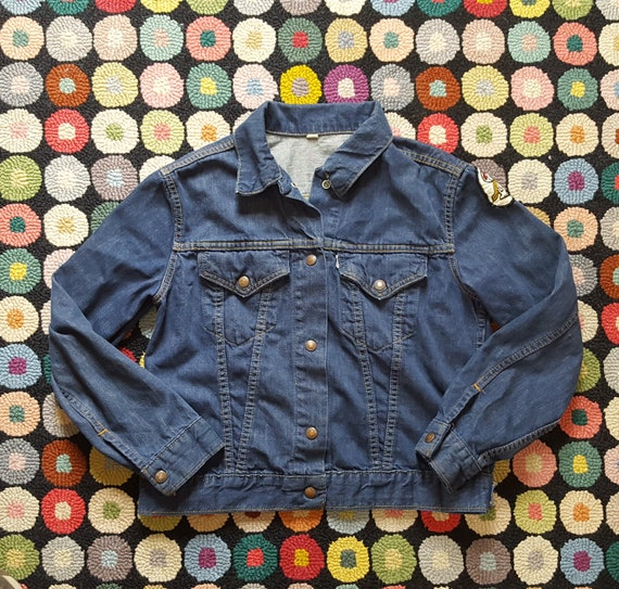 Vintage LEVIS no. big E WORK Denim JACKET Hippie 70s size.M