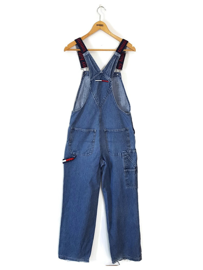 3264b38e Vintage 90s Tommy Hilfiger Overalls Logo Spellout Bibs Denim | Etsy