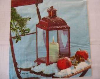 set of 2 napkins paper Lantern