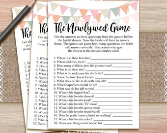 the newlywed bridal shower game what did the groom say printable coral bridal shower game hen party bachelorette games 006