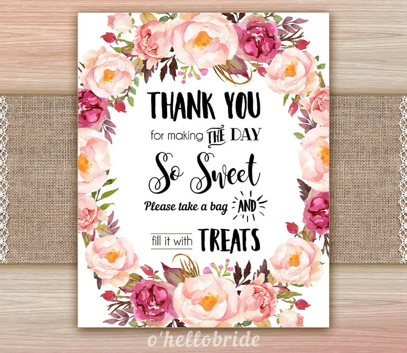 Terrific Candy Buffet Sign Candy Table Sign Treats Sign Boho Bridal Shower Floral Bridal Shower Signs Wedding Signs Table Signs 039 Home Interior And Landscaping Eliaenasavecom