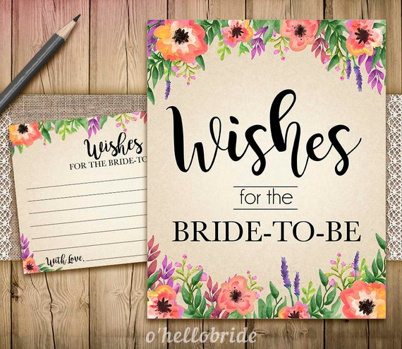 wishes for the soon to be mrs printable chalkboard bridal shower wishes for the bride to