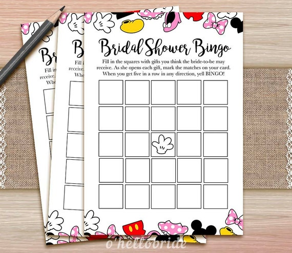 photo regarding Disney Bingo Printable known as Bridal Bingo Recreation - Bridal Shower Disney Bingo Activity - Printable Disney Bridal Shower Bingo Activity - Bridal Shower Bash Recreation 009
