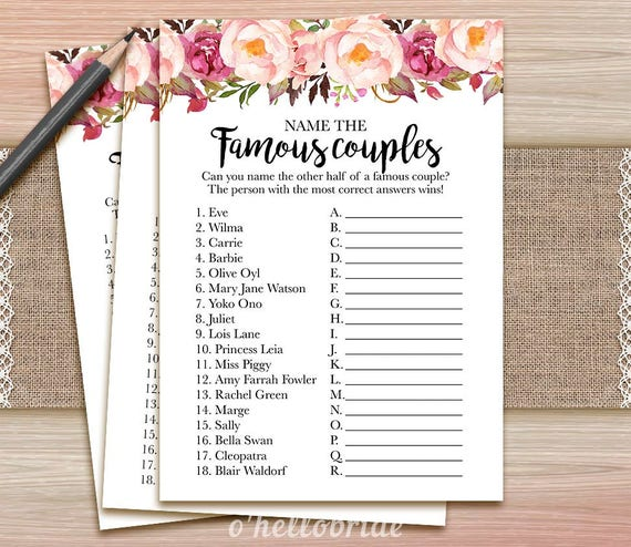 Celeb Couples Trivia and Quizzes - Fun Trivia Quizzes