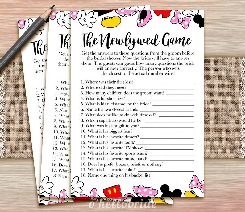 223b1536c6c The Newlywed Game What Did The Groom Say Printable Disney