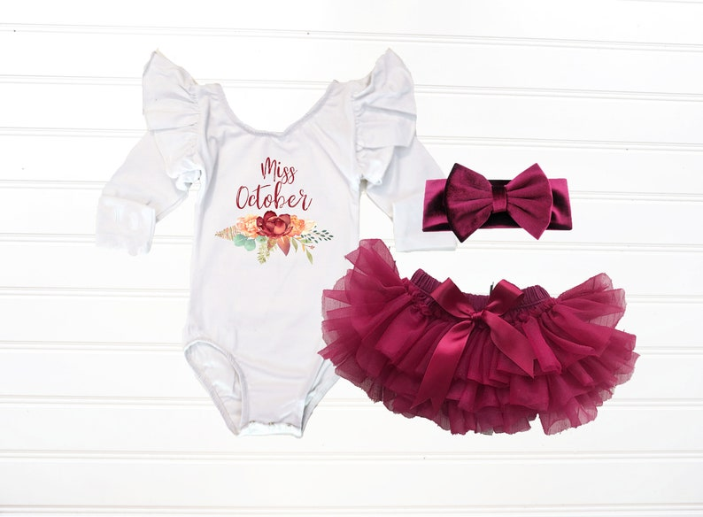 40183f5fbf3 Miss October Birthday Outfit Fall Birthday Tutu Outfit Fall | Etsy
