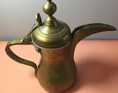 Vintage Turkish Coffee Pot. Dallah. Arabic. Stamped (X). Possibly Antique.