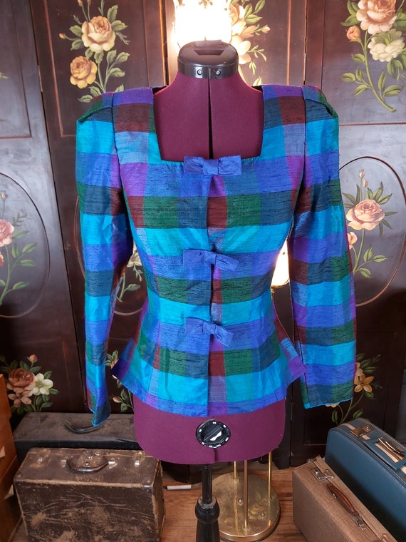 Vintage Fitted Checkered Blazer Made in Canada Tor