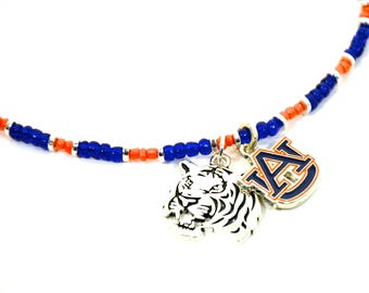 au Ladies choker | Auburn jewelry | au jewelry | Auburn logo necklace | Auburn choker | au Tiger choker | FREE SHIPPING in US