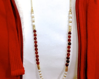 fsu jewelry   Long fsu necklace   garnet and gold   fsu feathers   Florida State jewelry   Florida State long necklace   FREE SHIPPING in US