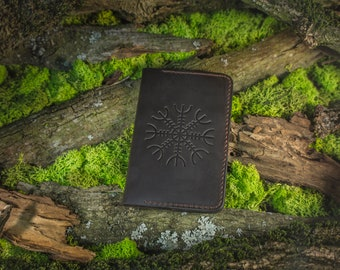 "Plain Cahier Journal ""Galdrastafir"" (Moleskine Cahiers) with Vegvisir and Aegishjalmur"