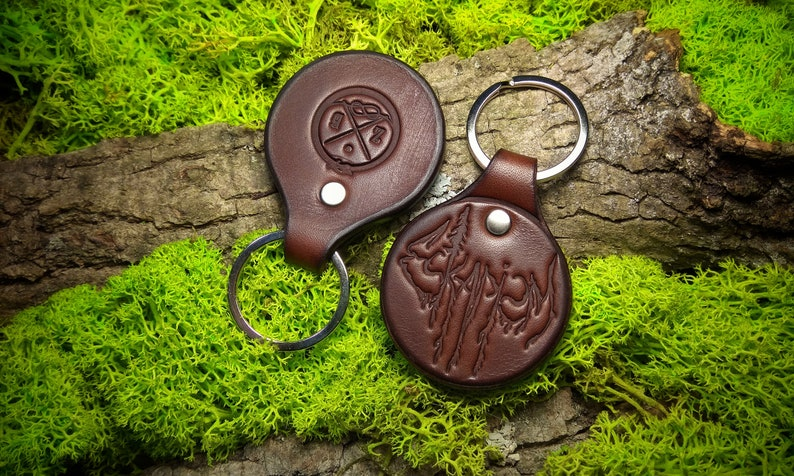 Leather Key Rings Eskapism thick leather image 0