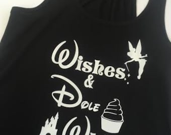 Wishes & Dole Whip Women's Tank Top Black