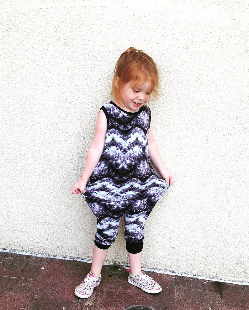 Tie Dye French Terry Romper image 0