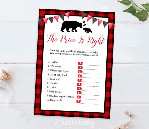 Printable Baby Shower Games Printable Price Is Right Game Etsy