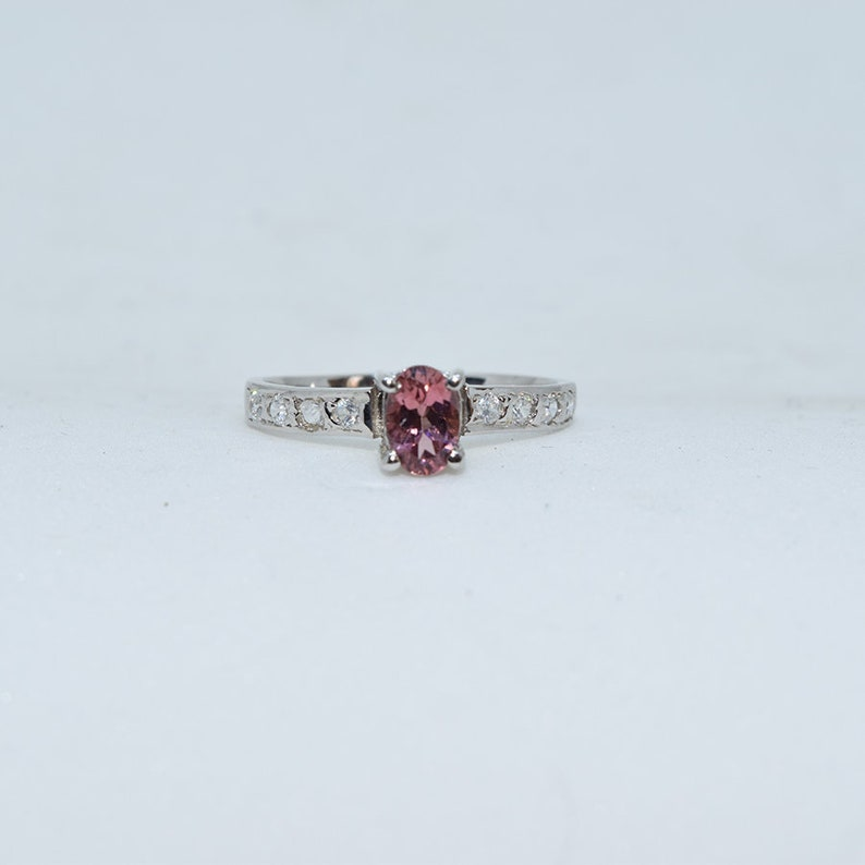 Promise Ring SILVER RING Natural TOURMALINE Engagement Ring tourmaline Silver Ring Anniversary Ring. Wedding Ring Solitaire Ring