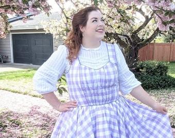 Cottagecore Jumper Dress Sewing Pattern // Plus Size Dress Pattern // Instant Download Printable PDF Sewing Pattern