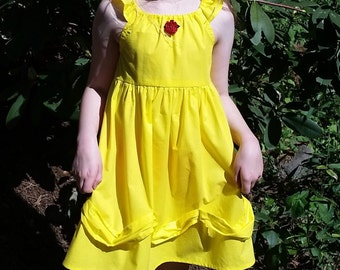 Belle Dress Close-out - Beauty and the Beast Inspired Dress - Belle Yellow Ballgown - Girls Belle Costume - Belle Disneybound
