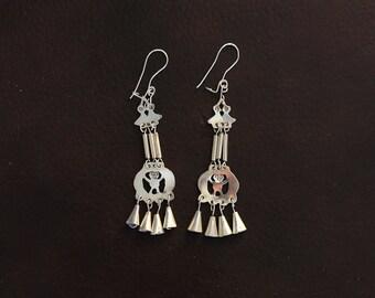 5d3b03359 Skill Acucha, Long modern Mapuche earrings