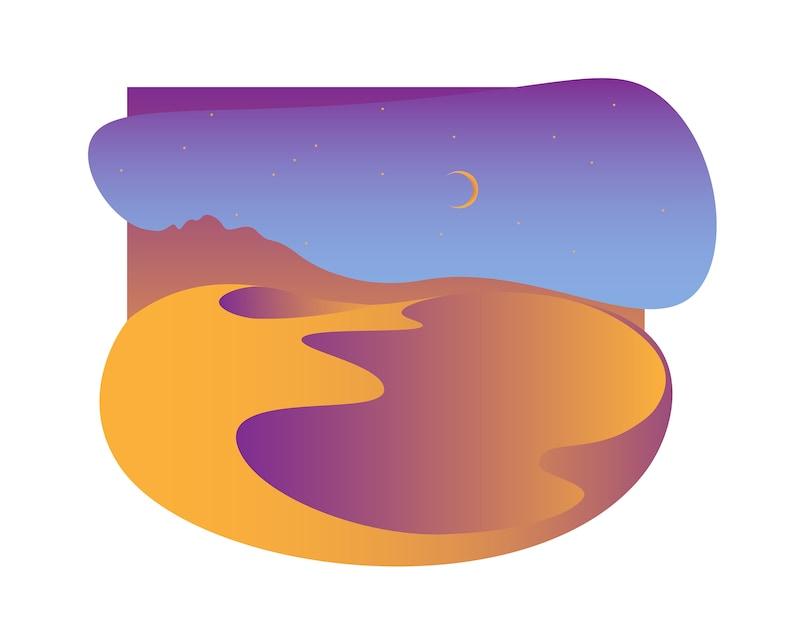 Desert Vector Print image 0
