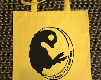 Yellow Canvas Tote - Large