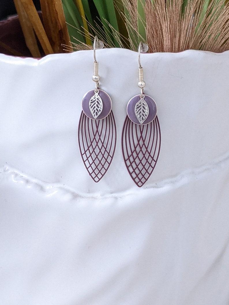 Fancy earringdying earringsearringspurple earringsearringsjewelrywoman gift