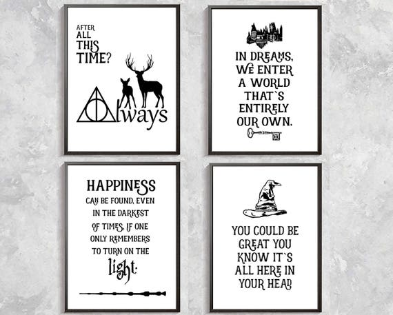 Harry Potter Quotes Print Harry Potter Poster Sorting Hat Etsy Inspiration Harry Potter Quotes