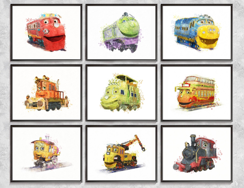 Chuggington Trains Print Watercolor Trains Print Movie | Etsy