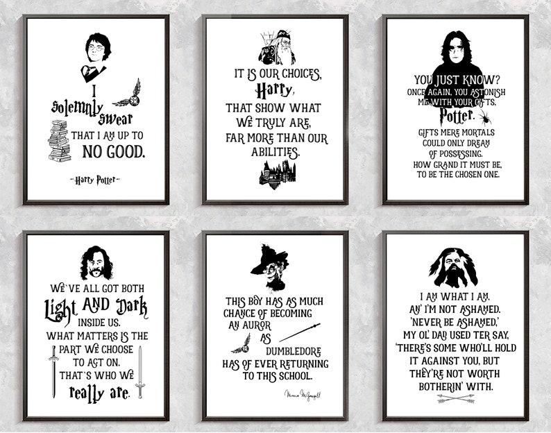 Harry Potter Print Harry Potter Quotes Posters Severus Snape Etsy
