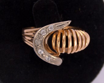 Type Chevalier ring all 18 k gold with Platinum Diamond Ring Chevalier Gold Platinum and brilliant