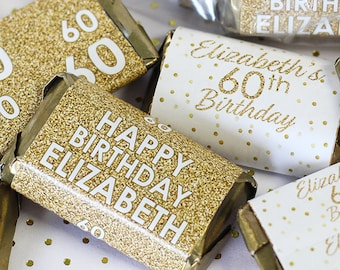 50 Mini Candy Bar Wrappers for Party Favors small gifts