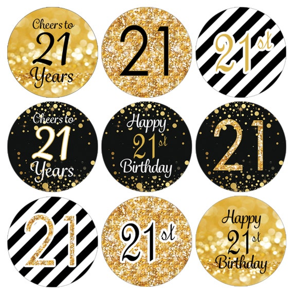 Shield Happy 21st Birthday Banner Personalized Party Backdrop Decoration
