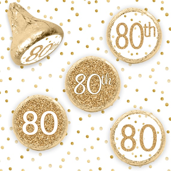 80th Birthday Decorations White And Gold Party