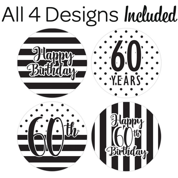 60th Birthday Decoration Black And White Party