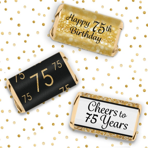 75th Birthday Decorations Black And Gold Party