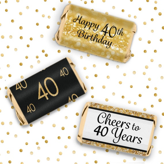 40th Birthday Decorations Black And Gold Party