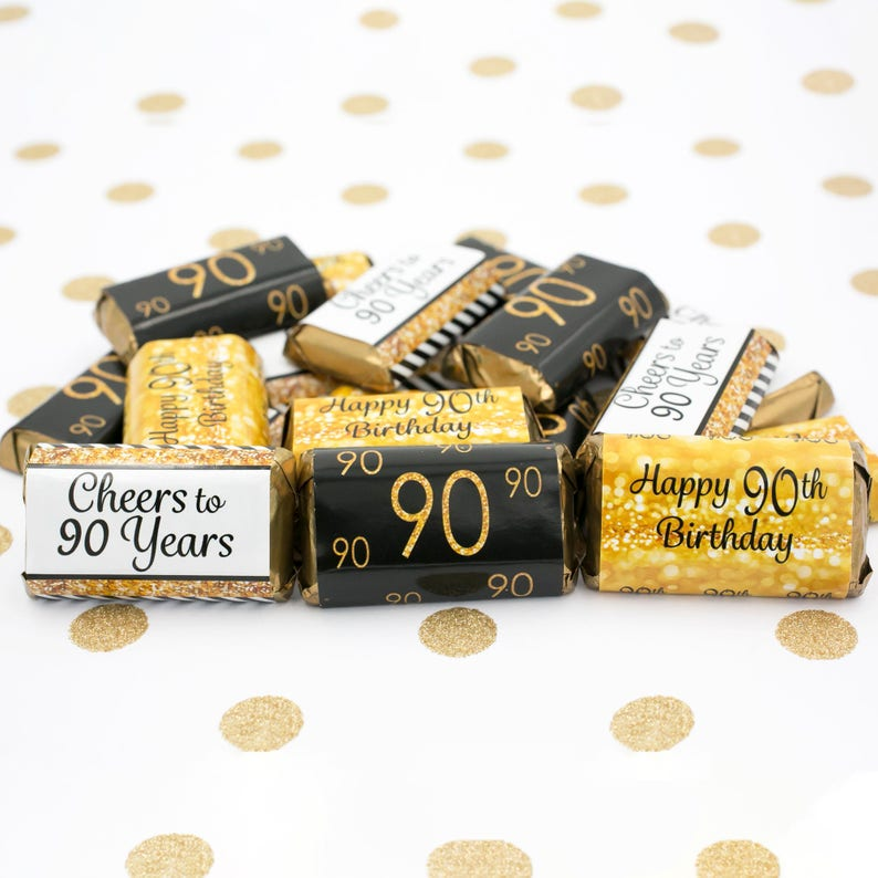 90th Birthday Decorations Black And Gold Party