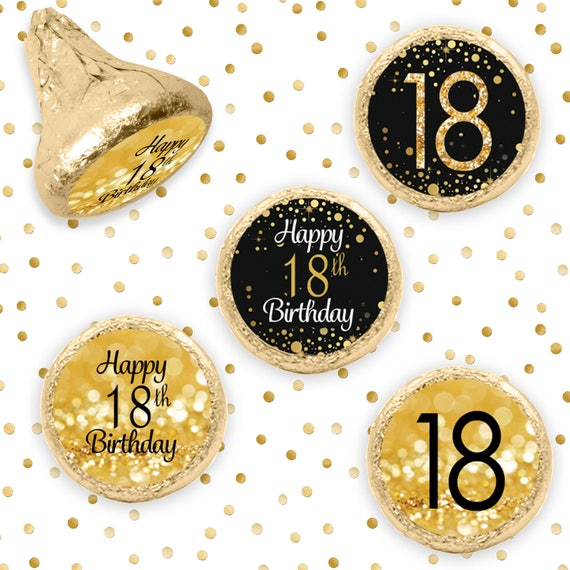 18th Birthday Decorations Black And Gold Party