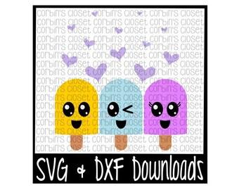 Popsicles * Ice Cream * Fro-Yo Cutting File - SVG & DXF Files - Silhouette Cameo/Cricut