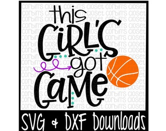 Softball Svg This Girl S Got Game Cut File Dxf Svg Etsy