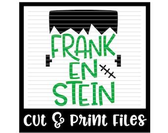 Halloween SVG * Frankenstein Cut File - dxf, SVG & PDF Printable Files - Silhouette Cameo, Cricut