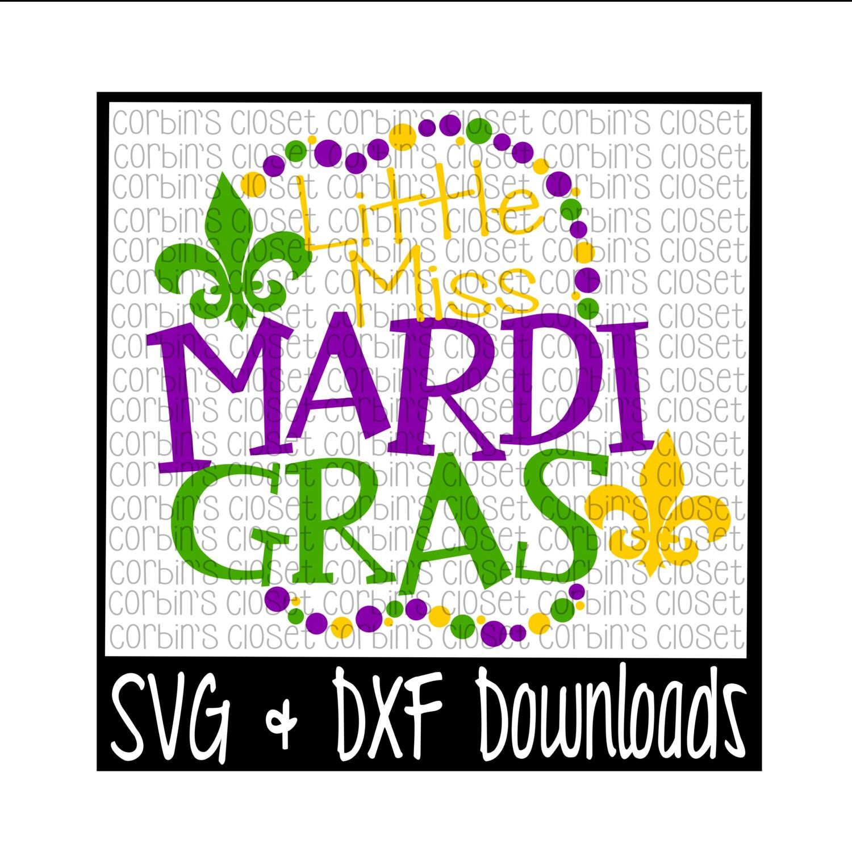 Mardi Gras Svg Little Miss Mardi Gras Mardi Gras Beads Etsy