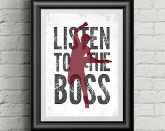BRUCE SPRINGSTEEN Inspired 11x14 Poster Print   Listen To The Boss   Wall Art   Home Decor