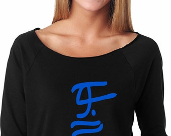 Hillary Clinton for President 2016 Ladies Off the Shoulder Terry Raglan