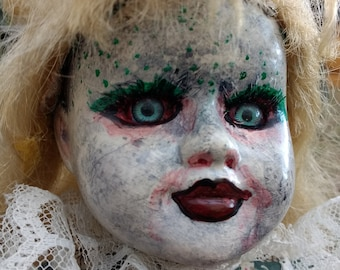 I see you..art doll/altered doll/creepy doll/dark doll/gothic/Halloween/zombie