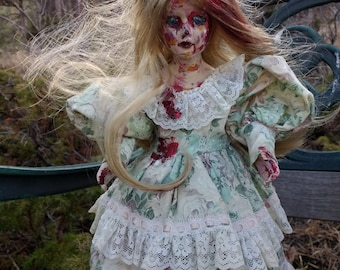 Zombie /altered doll/art doll/collectable doll/gothic/horror