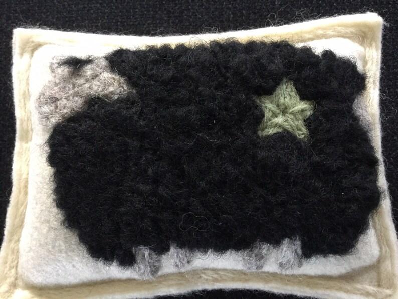 Needle Felted Black Sheep Maine Balsam PineFir Sachet
