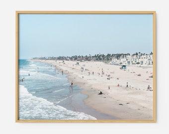 California Beach ART PRINT | Aerial Beach photography | Beach wall art poster | Beach from above print | Ocean Coastal decor art California