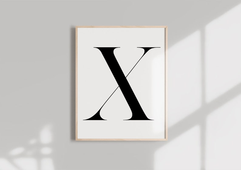 picture regarding Letter X Printable named Letter X PRINTABLE Black Alphabet Monogram letter typography wall artwork  Typography electronic down load Initials Poster Marble letter print